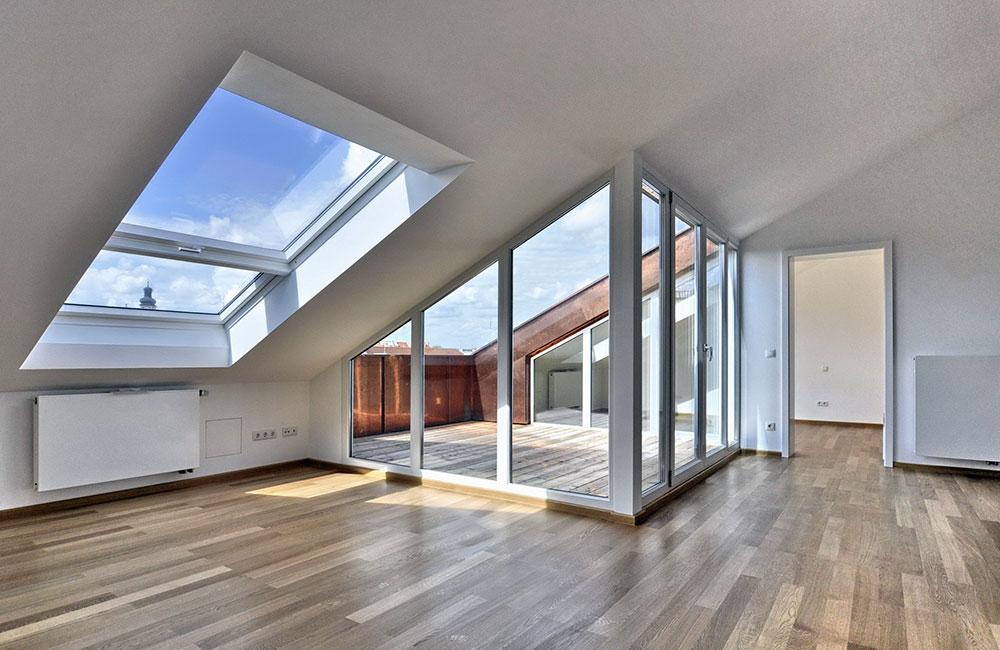 Wohnungsbau München - Dachgeschossausbau - Architekturbüro Spengler